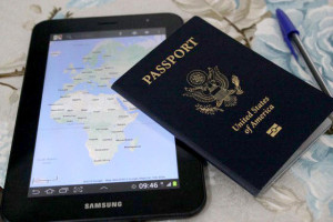New U.S. Passport Book and Tablet